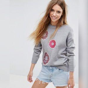 ASOS Embellished Donut Crew Neck Sweater
